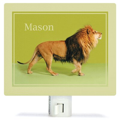 Lion on Green Night Light