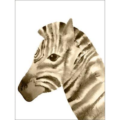 Gentle Watercolor Zebra Canvas Art NB49872