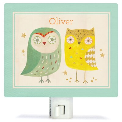Two Wise Owls Night Light