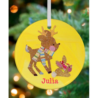 Reindeer and Bunny Personalized Ornament by Winborg Sisters