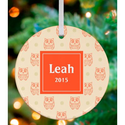 Holiday Owls Personalized Ornament by House NB6617