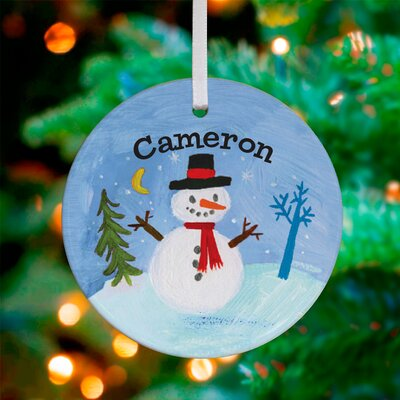 Snowman Wonderland Personalized Ornament by Donna Ingemanson