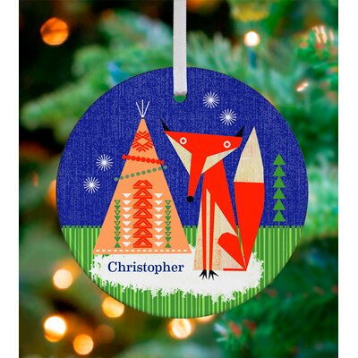 Oopsy Daisy Twilight Fox Personalized Ornament by Brian Love NB47974