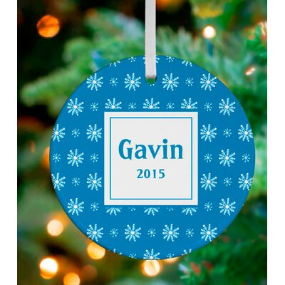 Snowflake Flurry Personalized Ornament by House