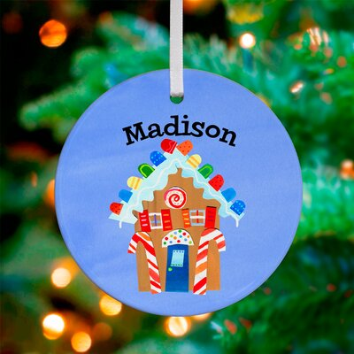 Gingerbread House Personalized Ornament by Jill McDonald