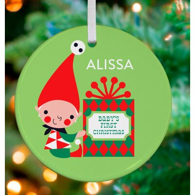 Little Baby's First Christmas Personalized Ornament by Amy Blay