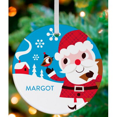 Santa Claus and Bird Friend Personalized Ornament by Amy Blay