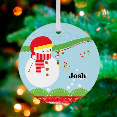 All Bundled Up Snowman Personalized Ornament by Jillian Phillips
