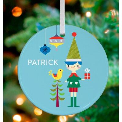 Little Elf Boy Personalized Ornament by Suzy Ultman