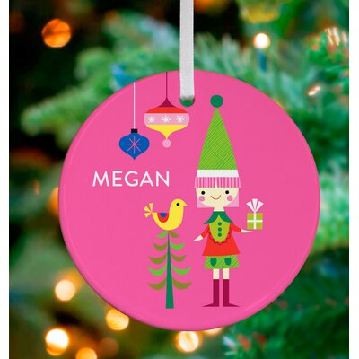 Little Elf Girl Personalized Ornament by Suzy Ultman