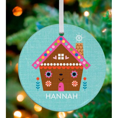 Little Gingerbread Cottage Personalized Ornament by Suzy Ultman