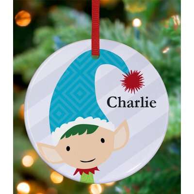 Modern Elf Boy Personalized Ornament by Stacy Amoo Mensah