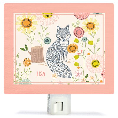 Hiding Fox Canvas Night Light
