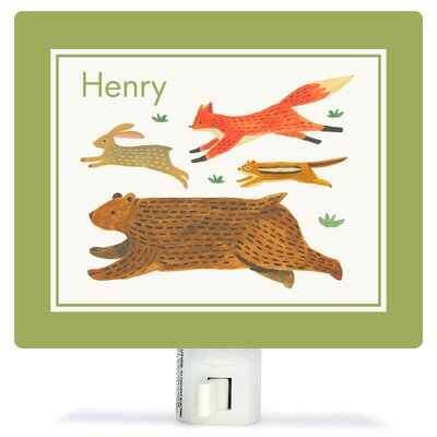 Alphabet of Animals Canvas Night Light