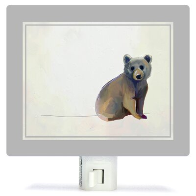 Baby Bear Sitting by Cathy Walters Canvas Night Light