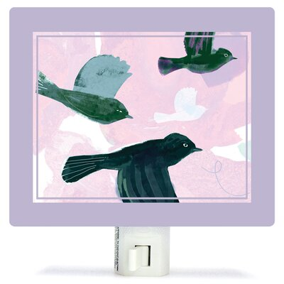 Flighty Birds by Barbara Chotiner Canvas Night Light