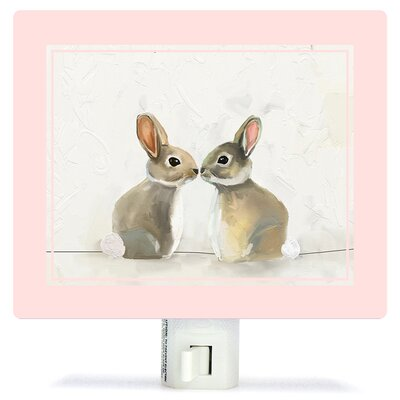 Baby Bunnies by Cathy Walters Canvas Night Light