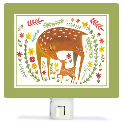 Together Forever Deer by Irene Chan Canvas Night Light