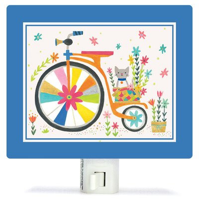 Kitty Bicycle by Irene Chan Canvas Night Light