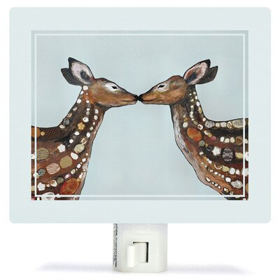 Deer Love by Eli Halpin Canvas Night Light