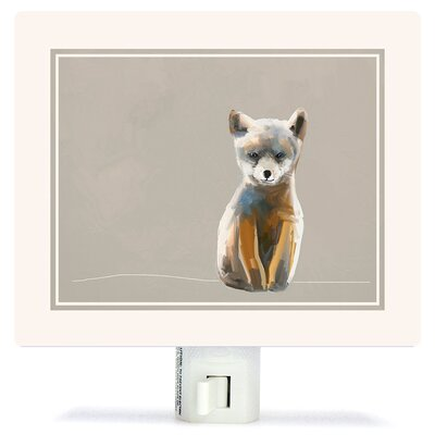 Baby Fox - Neutral by Cathy Walters Canvas Night Light