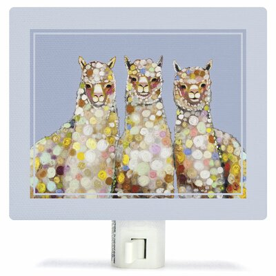 Alpaca Trio by Eli Halpin Canvas Night Light
