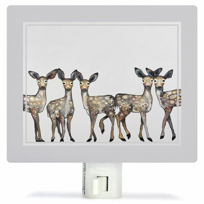 5 Dancing Fawns by Eli Halpin Canvas Night Light