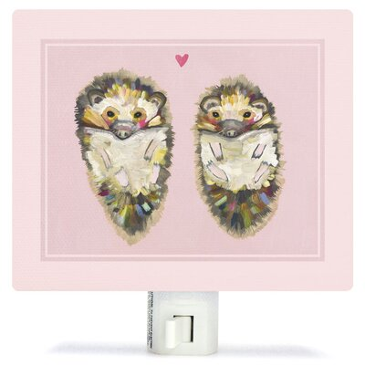 Hedgehog Love by Eli Halpin Canvas Night Light