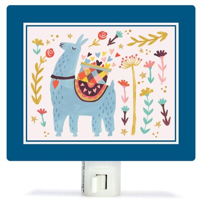 Blue Llama by Irene Chan Canvas Night Light