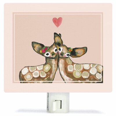 Fawn Love by Eli Halpin Canvas Night Light