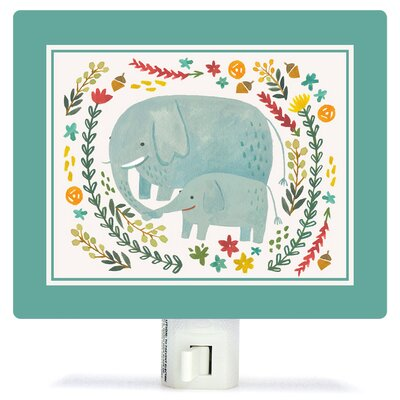 I Carry Your Heart Elephants by Irene Chan Canvas Night Light
