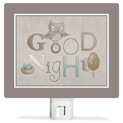 Neutral Alphabet by Sarah Lowe Canvas Night Light