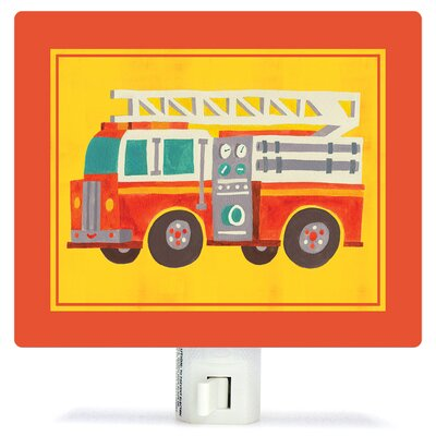 Transportation Fire Truck by Irene Chan Canvas Night Light