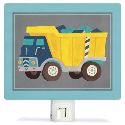 Transportation Dump Truck by Irene Chan Canvas Night Light