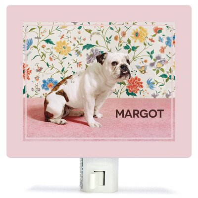 Bulldog by Catherine Ledner Personalized Canvas Night Light