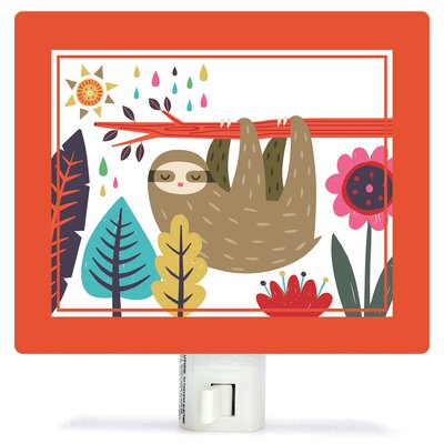 Sleepy Sloth by Irene Chan Canvas Night Light