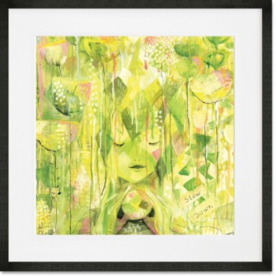 'Amongst The Flowers' Framed Print Format: Black Frame, Size: 14