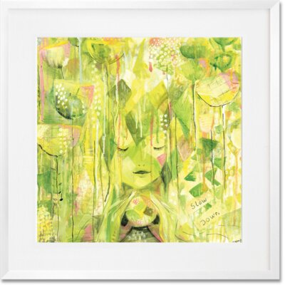 'Amongst The Flowers' Framed Print Format: White Frame, Size: 20