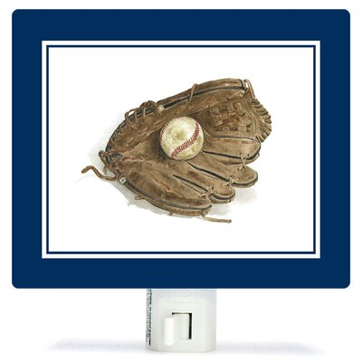 Non-Personalized Sports and Games Ball in Glove Canvas Night Light
