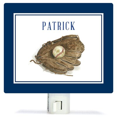 Personalized Sports and Games Ball in Glove Canvas Night Light