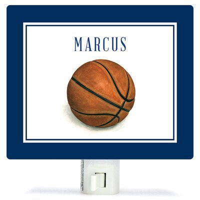 Personalized Sports and Games Basketball Canvas Night Light