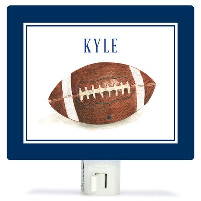 Personalized Sports and Games Football Canvas Night Light