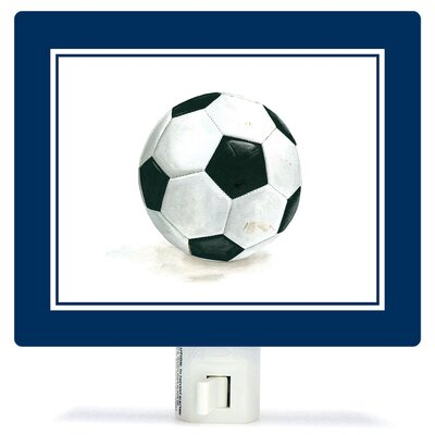 Non-Personalized Sports and Games Soccer Ball Canvas Night Light