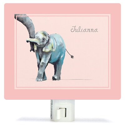 Personalized You And Me Elephant Canvas Night Light