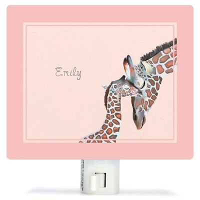 Personalized You And Me Giraffe Canvas Night Light
