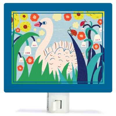 Swan Garden Canvas Night Light
