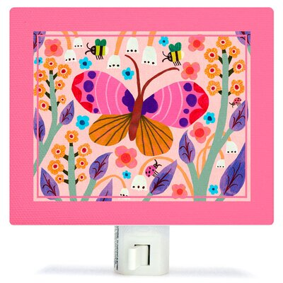 Butterfly Field Canvas Night Light
