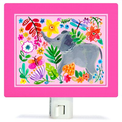 Painted Jungle Canvas Night Light