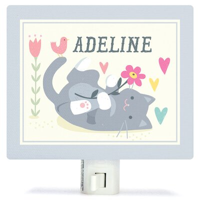 Personalized Playful Kitten Canvas Night Light