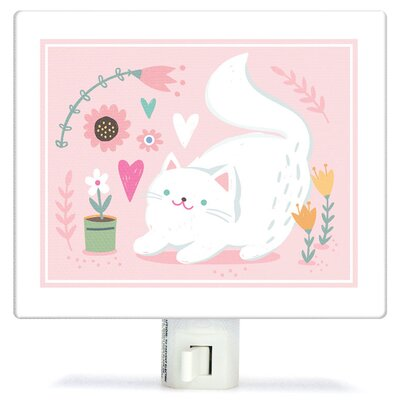 Non-Personalized Playful Kitten Canvas Night Light
